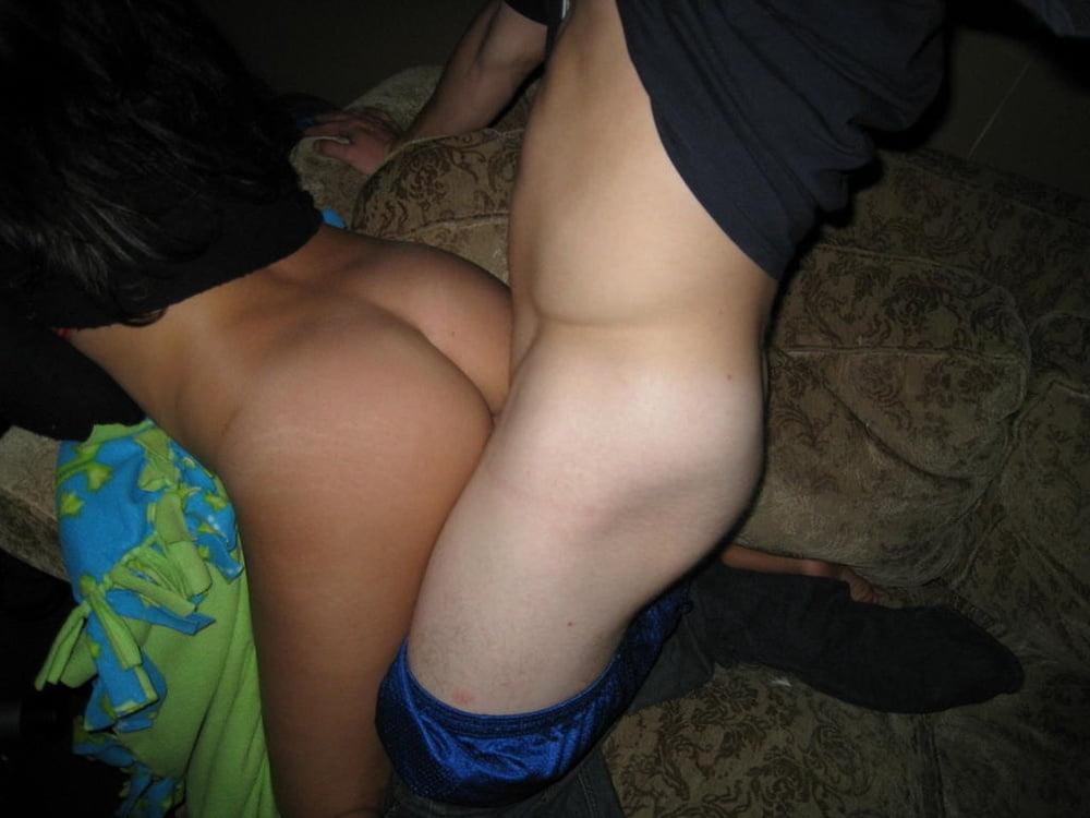 Amateur couple having sex with drunk head!
