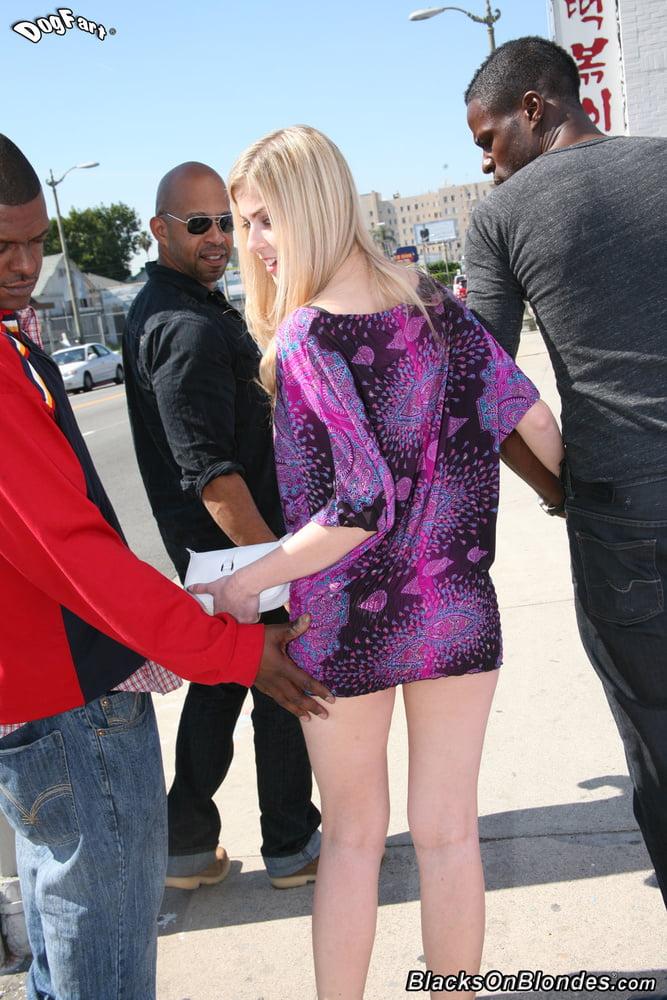 3 black men and Abigaile Johnson sex time