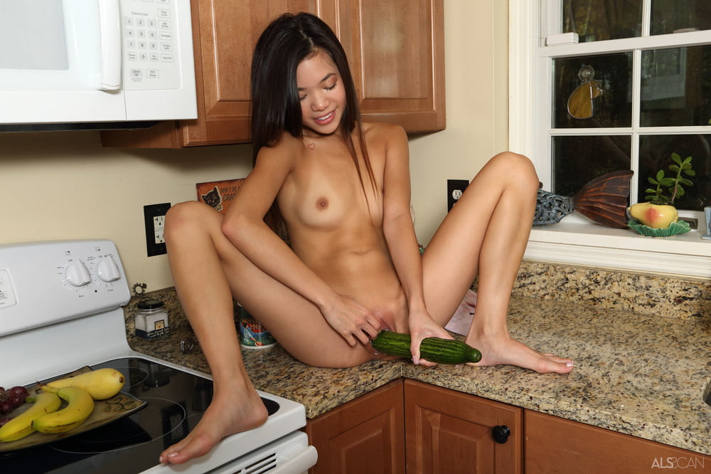 Bitches trying to get satisfaction with cucumber