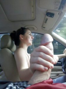 Amateur sex pictures in the car!