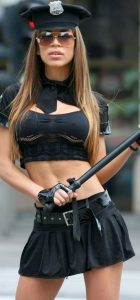 Horny sexy girls in police costume