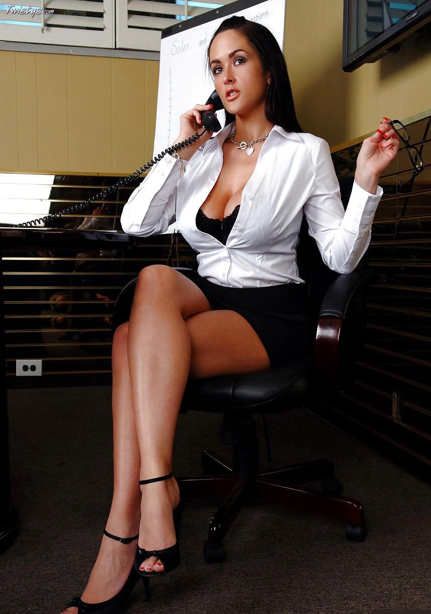 Carmella Bing, the secretary whose pussy was on fire!
