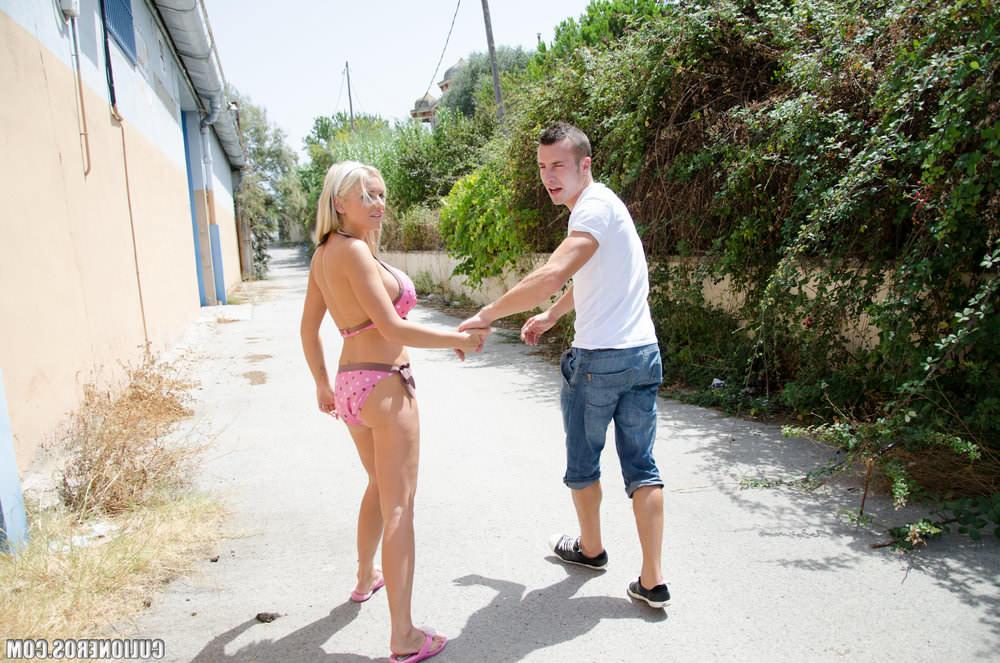 Hitchhiking Alexandra Cat is raped!