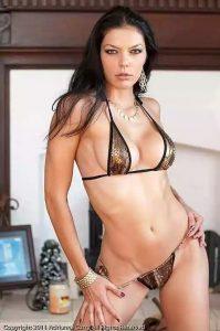 Sexy girls in micro bikini with beautiful breasts
