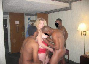 Blonde Milf wants black and big cock!